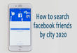 Find Friends on Facebook by Location